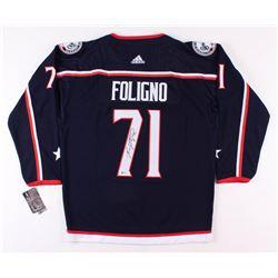 Nick Foligno Signed Columbus Blue Jackets Captain's Jersey (Beckett COA)