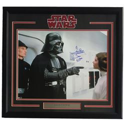 "Dave Prowse Signed ""Star Wars: A New Hope"" 22x27 Custom Framed Photo Display Inscribed ""Darth Vader"""