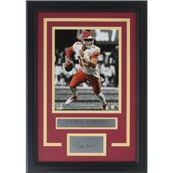 Patricks Mahomes Kansas City Chiefs 11x18 Custom Framed Photo Display