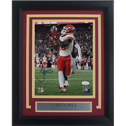 Tyreek Hill Signed Kansas City Chiefs 11x14 Custom Framed Photo Display (JSA COA)