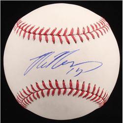 Max Muncy Signed OML Baseball (PSA COA)