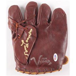 Tommy Lasorda Signed Vintage 1940's Baseball Glove (PSA COA)