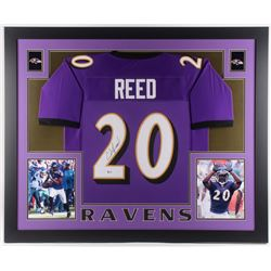 Ed Reed Signed 35x43 Custom Framed Jersey (Beckett COA)