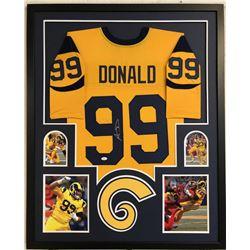 Aaron Donald Signed 34x42 Custom Framed Jersey (JSA COA)
