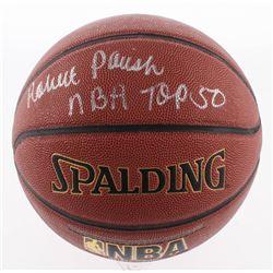 "Robert Parish Signed NBA Basketball Inscribed ""NBA Top 50"" (Schwartz COA)"