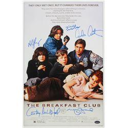 The Breakfast Club 11x17 Photo Cast-Signed by (5) with Molly Ringwald, Emilio Estevez, Judd Nelson,