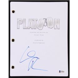 "Willem Dafoe Signed ""The Platoon"" Movie Script (Beckett COA)"