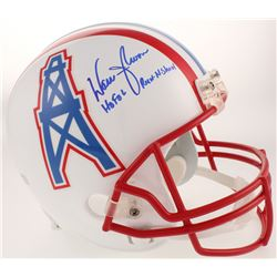 "Warren Moon Signed Houston Oilers Full-Size Helmet Inscribed ""HOF 06""  ""Run-N-Shoot"" (Radtke COA)"