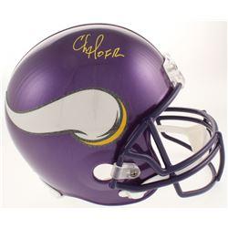 """Chris Doleman Signed Minnesota Vikings Full-Size Helmet Inscribed """"HOF 12"""" (Radtke COA)"""