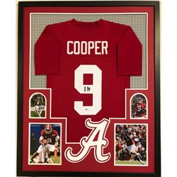 Amari Cooper Signed 34x42 Custom Framed Jersey Display (Beckett COA)