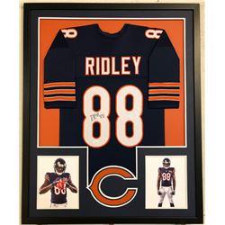 Riley Ridley Signed 34x42 Custom Framed Jersey (JSA COA)