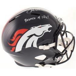 "Terrell Davis Signed Denver Broncos Full-Size Speed Helmet Inscribed ""Bronco 4 Life!"" (Radtke COA)"