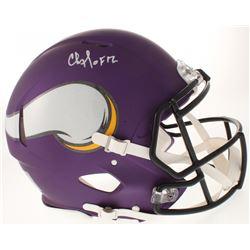 "Chris Doleman Signed Minnesota Vikings Full-Size Authentic On-Field Speed Helmet Inscribed ""HOF 12"""