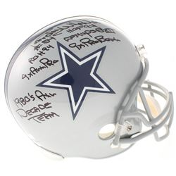 Randy White Signed Dallas Cowboys Full-Size Helmet with (6) Career Highlight Stat Inscriptions (Radt