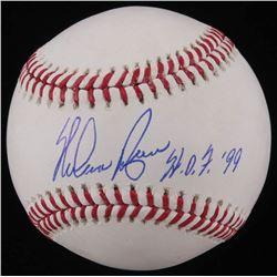 "Nolan Ryan Signed OML Baseball Inscribed ""HOF 99"" (AI Verified COA  Ryan Hologram)"