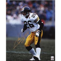 "Rod Woodson Signed Pittsburgh Steelers 16x20 Photo Inscribed ""HOF 09"" (JSA COA)"