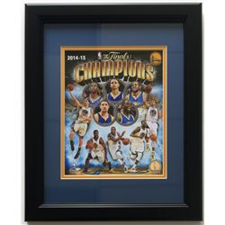 Golden State Warriors 14x17 Custom Framed 2014-15 NBA Championship Photo Display