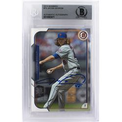 Jacob deGrom Signed 2015 Bowman #75 (Beckett Encapsulated)