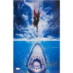 "Greg Horn Signed ""Thor vs Jaws "" 11x17 Lithograph (JSA COA)"