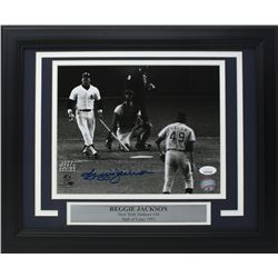 Reggie Jackson Signed New York Yankees 11x14 Custom Framed Photo Display (JSA COA)