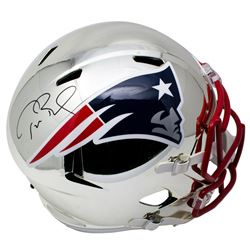 Tom Brady Signed New England Patriots Full-Size Chrome Speed Helmet (Tristar Hologram)