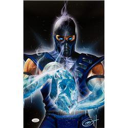 "Greg Horn Signed Mortal Kombat ""Sub Zero"" 11x17 Lithograph (JSA COA)"