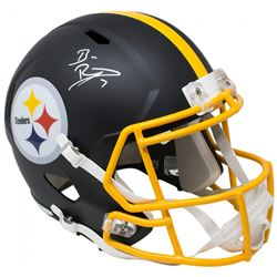 Ben Roethlisberger Signed Pittsburgh Steelers Full-Size Matte Black Speed Helmet (Beckett COA  Fanat