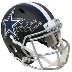 Ezekiel Elliott Signed Dallas Cowboys Full-Size Matte Black Speed Helmet (Beckett COA)