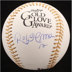 Roberto Alomar Signed Gold Glove Award Baseball (JSA Hologram)