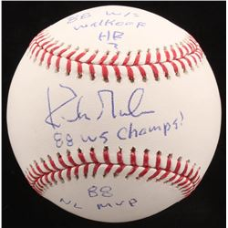 Kirk Gibson Signed OML Baseball Inscribed  88 W/S Walkoff HR! ,  88 WS Champs    88 NL MVP  (Radtke