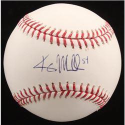 Kris Medlen Signed OML Baseball (MLB Hologram)