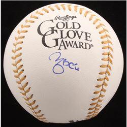 Yadier Molina Signed Gold Glove Award Baseball (JSA COA)