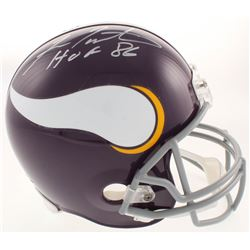 "Fran Tarkenton Signed Minnesota Vikings Full-Size Helmet Inscribed ""HOF 86"" (Schwartz COA)"