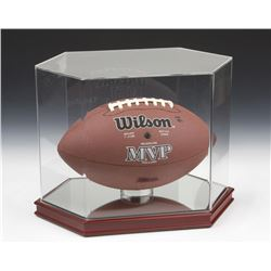Octagon Football Cherrywood Display Case