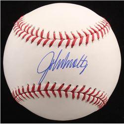 John Smoltz Signed OML Baseball (Radtke COA)