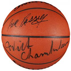 Wilt Chamberlain  Bill Russell Signed NBA Basketball (JSA LOA)