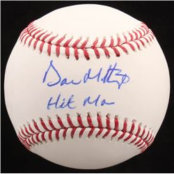 "Don Mattingly Signed OML Baseball Inscribed ""Hit Man"" (JSA Hologram)"