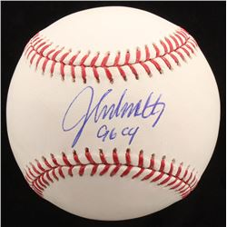 "John Smoltz Signed OML Baseball Inscribed ""96 CY"" (Radtke COA)"