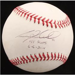 "Craig Kimbrel Signed OML Baseball Inscribed ""155 Saves""  ""6-6-2014"" (Radtke COA)"