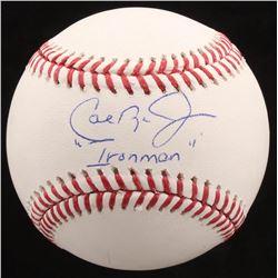 """Cal Ripken Jr. Signed OML Baseball Inscribed """"Ironman"""" (Radtke COA)"""