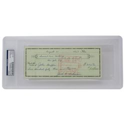 Jackie Robinson Signed Personal Bank Check (PSA Encapsulated)