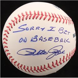 "Pete Rose Signed OML Baseball Inscribed ""Sorry I Bet On Baseball"" (JSA COA)"
