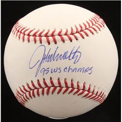 "John Smoltz Signed OML Baseball Inscribed ""95 WS Champs"" (Radtke COA)"