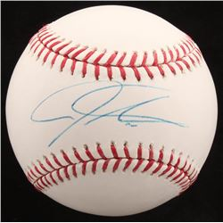 Josh Hamilton Signed OML Baseball (MLB Hologram)