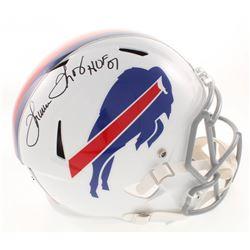 "Thurman Thomas Signed Buffalo Bills Full-Size Speed Helmet Inscribed ""HOF 07"" (Radtke COA)"