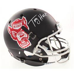 Torry Holt Signed North Carolina State Wolfpack Full-Size Helmet (Radtke COA)