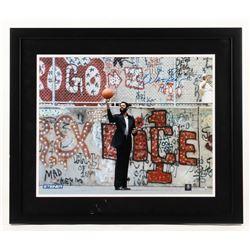 Walt Frazier Signed 22x26 Custom Framed Photo (Steiner COA)