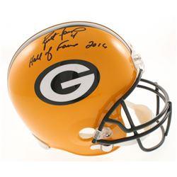 """Brett Favre Signed LE Green Bay Packers Full-Size Helmet Inscribed """"Hall of Fame 2016"""" (Radtke COA)"""