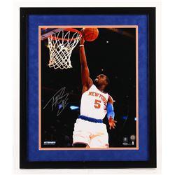 Tim Hardaway Jr. Signed New York Knicks 22x26 Custom Framed Photo (Steiner COA)