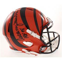 "Anthony Munoz Signed Cincinnati Bengals Full-Size Speed Helmet Inscribed ""HOF 98"" (Radtke COA)"
